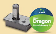Dragon NaturallySpeaking Legal Revolabs xTag Wireless Microphone System